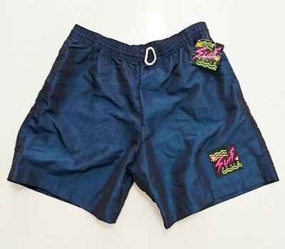 Surf Style Iridescent SHORTS Vintage Vtg USA Made Hype Rare Sport Athletic 90s
