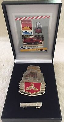 2018 Fj Holden Pmg Badge, Sheetlet And Pin Set: Limited Edition 104/120