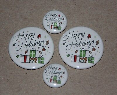 4 Happy Holidays Style 2  Magnets-Makes Great Gifts