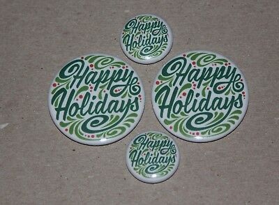 4 Happy Holidays Style 1 Magnets-Makes Great Gifts
