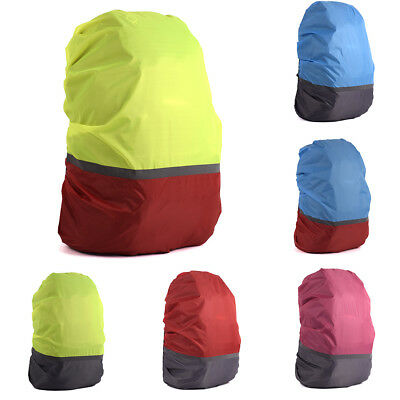 Waterproof Reflective Backpack Cover Bag Camping Outdoor Rucksack Rain Dust Arde