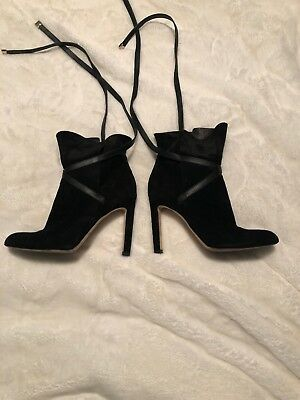 9a7ed1c2808 K37 NEW Jimmy Choo Dalal Black Suede Ankle Booties Women s Size 37.5 M