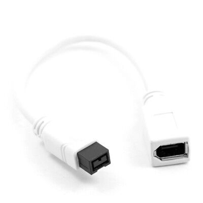 White IEEE 1394 6pin female to 1394b 9pin male firewire 400 TO 800 Cable 10cm JF