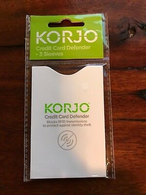 Korjo Credit Card Defender, RFID, RFID-Blocker, 3-pack
