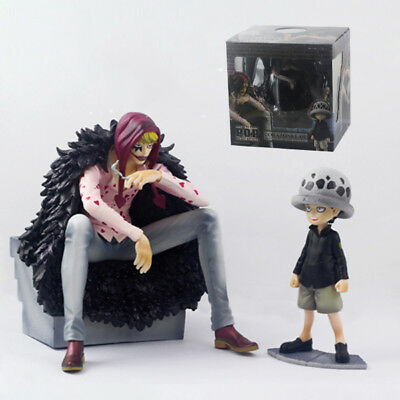 2pcs/lot One Piece Trafalgar Law Heart Corazon & Law Limited Edition PVC Figure