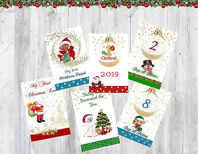 Baby's Milestone Cards Baby's 1st Christmas 2019 Unisex baby gift 6x4 pack of 26