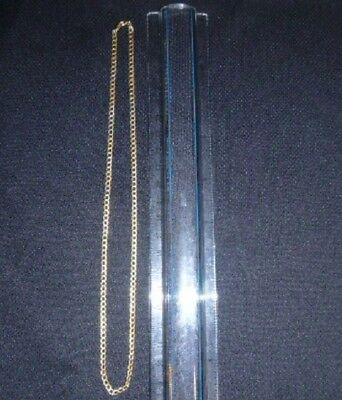"18 K Solid Yellow Gold ""cuban Link Style"" Beautiful Necklace,  3.3 Grams"