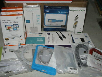 30 Items Plus  Wholesale Lot  New, Usb, Hdmi, Items Cords Ect
