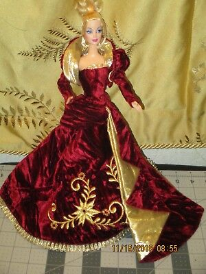 Barbie Model Muse Sz Crushed Wine And Gold Evening Gown And Jacket