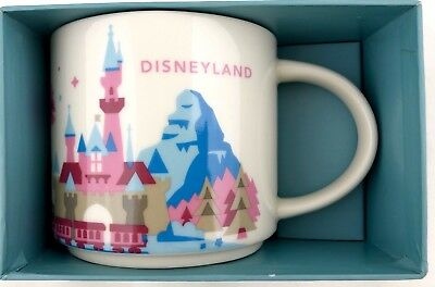 NEW Disney Parks Starbucks Disneyland You Are Here 1st Edition Castle Cup Mug