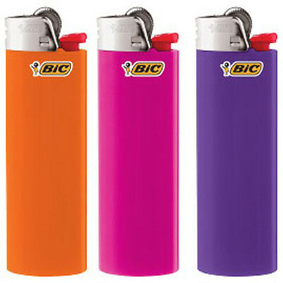 Pack of 3 Full Sized Brand New Multi-Colored BIC Lighters
