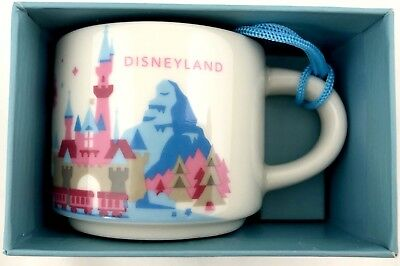 NEW Disney Parks Starbucks Disneyland You Are Here 1st Edition Ornament Cup Mug