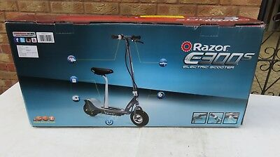 RAZOR E300S 15MPH Grey Kids/Adult Electric Scooter with Seat- Brand New  Boxed