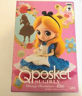 Disney Japan CHARACTERS Q POSKET SUGIRLY ALICE FIGURE A COLOR BANPRESTO