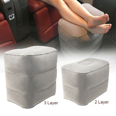 CA Plane Train Travel Inflatable Foot Rest Portable Pad Footrest Pillow PVC OZ