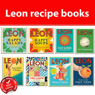 Leon cookbook Fast Vegetarian, Happy Salads, Soups, Baking & Puddings recipes