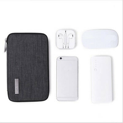 Phone Pouch Power Bank Storage Bag Waterproof For Data Cable Flash Drive N7