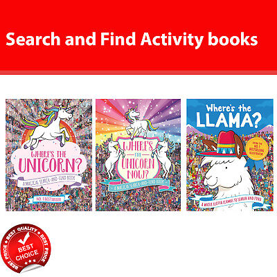 Where's the Unicorn Now and Llama books A Magical Search-and-Find Book NEW