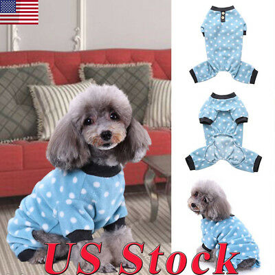 Puppy Pet Dog Cat Clothes Hoodie Winter Warm Sweater Coat Costume Apparel US New