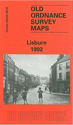 Old Ordnance Survey Map Lisburn 1902 Longstone Street Grove Street Largymore