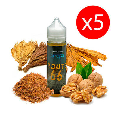 PACK 5 UNDS E-LIQUID DROPS ROUTE 66 50 ML (BOOSTER) 00 mg