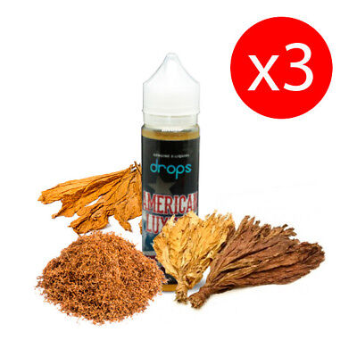 PACK 3 UNDS E-LIQUID DROPS AMERCIAN LUXURY 50 ML (BOOSTER) 00 mg