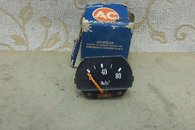 NOS AC DELCO OIL PRESSURE GAUGE FACE Vintage Classic VAUXHALL BEDFORD
