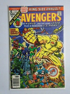 Avengers (1st Series) Annual #6, Date Written on Rear Cover 6.5 (1976)