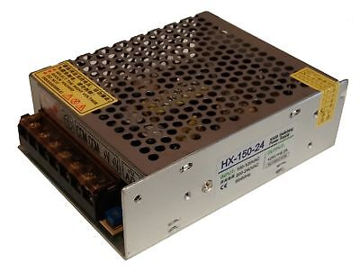 120-240V to 24VDC 6.25A, 150W, Open Frame Switching Power Supply - Ideal for LED