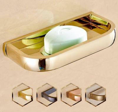 Bathroom Bath Soap Dish Brass Holder Storage Plate Wall Mounted Hanger Case D20