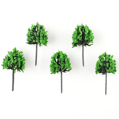 50x Green Model Trees Train Set Scenery Landscape HO N Gauge Diorama New