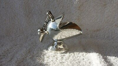 Lovely Vintage Silver Plated Sugar Scuttle & Scoop Sugar Bowl - Hand Engraved