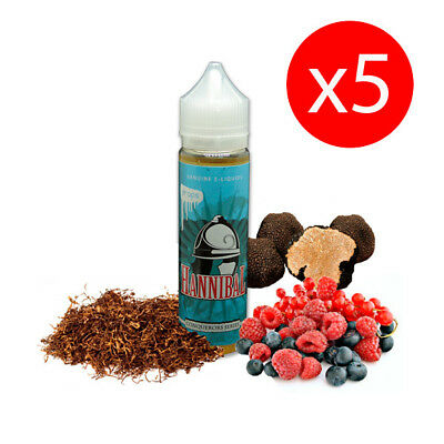PACK 5 UNDS E-LIQUID DROPS HANNIBAL 50 ML (BOOSTER) 00 mg