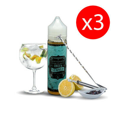 PACK 3 UNDS E-LIQUID DROPS IBIZA SUMMER 50 ML (BOOSTER) 00 mg