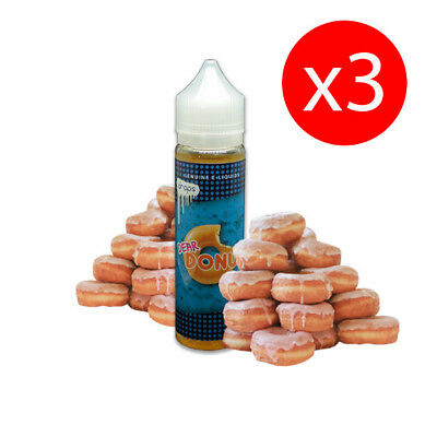 PACK 3 UNDS E-LIQUID DROPS DEAR DONUT 50 ML (BOOSTER) 00 mg