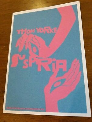 Thom Yorke Suspiria Movie Soundtrack 2018 RARE Postcard Radiohead NEW