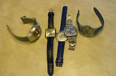 armbanduhr 5 stück konvolut, citizen automatic, omax quarz, Quarz, no name