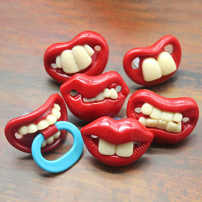 Funny Lips Teeth Toddler Silicone Dummy Soother Teething Sleep Pacifier Opulent