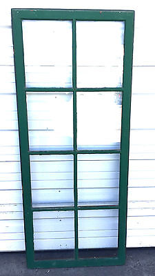 Vtg SASH  Green WOOD WINDOW PICTURE FRAME PINTEREST WEDDING 8 PANE 57 x 24