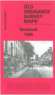 Old Ordnance Survey Map Tavistock 1905 New Market Ford Street Bedford Square