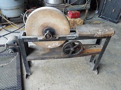 Antique Electric Grinding Sharpening Stone Wheel Farmhouse Vintage Country Chic