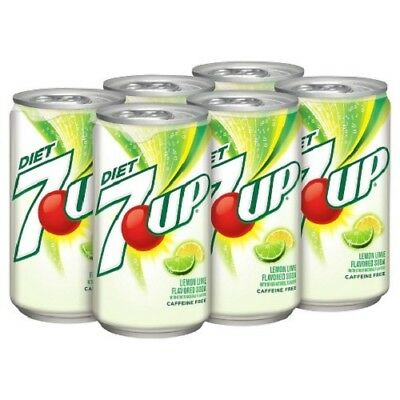 6 cans USA 7-Up Diet Lemon Lime Flavour Soda Drinks 355 ml per cans