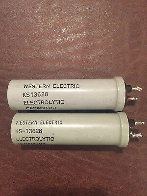 Vintage Western Electric Ks-13628 Electrolytic Capacitors