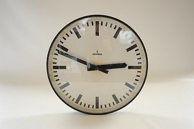 "1970s Big 16"" Industrial Wall Clock Siemens Modernist Design German Bauhaus RARE"