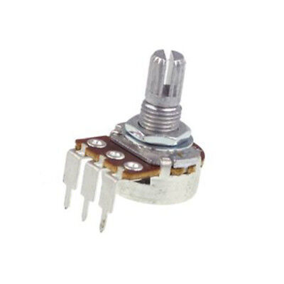 16mm PC RIGHT ANGLE Alpha Potentiometer  KNURLED SHAFT: 500K LOG (A) AUDIO