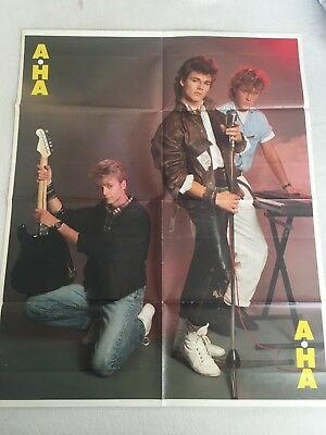 Dutch A-Ha Morten Harket set of 2 fold out posters Holland