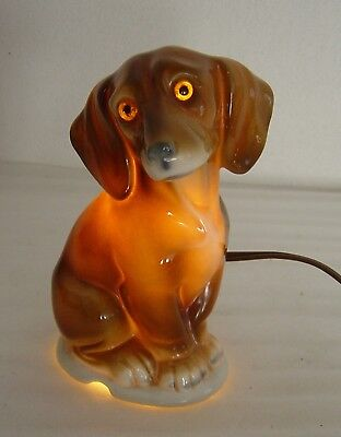 lovely old porcelain perfume lamp Dachshund dog