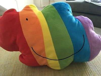 rainbow cloud cushion