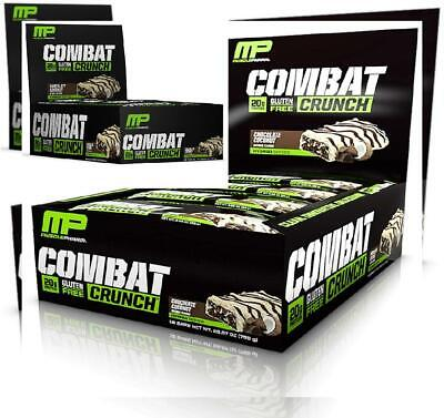 MusclePharm Combat Crunch Protein Bar, Multi-Layered Baked 20g Protein, Low...