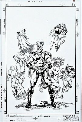 The New Titans #114 Original Cover Art Teen Titans Starfire Nightwing Tom Raney